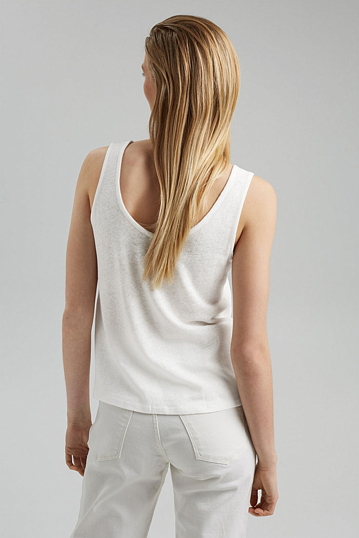 Met linnen: tanktop, OFF WHITE, detail image number 3