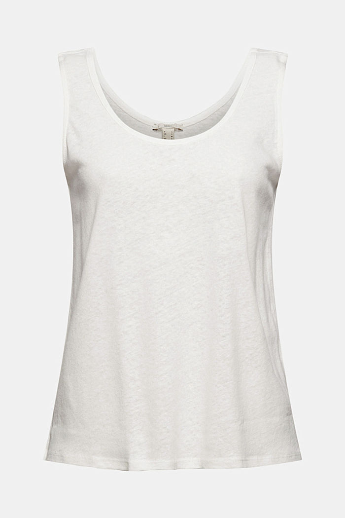 Met linnen: tanktop, OFF WHITE, detail image number 6