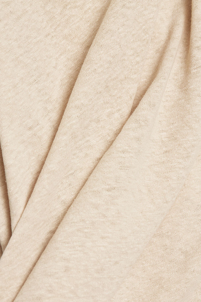 Linen blend: sleeveless top, BEIGE, detail image number 4