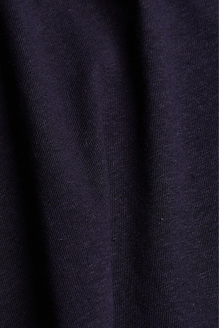 Linen blend: sleeveless top, NAVY, detail image number 4