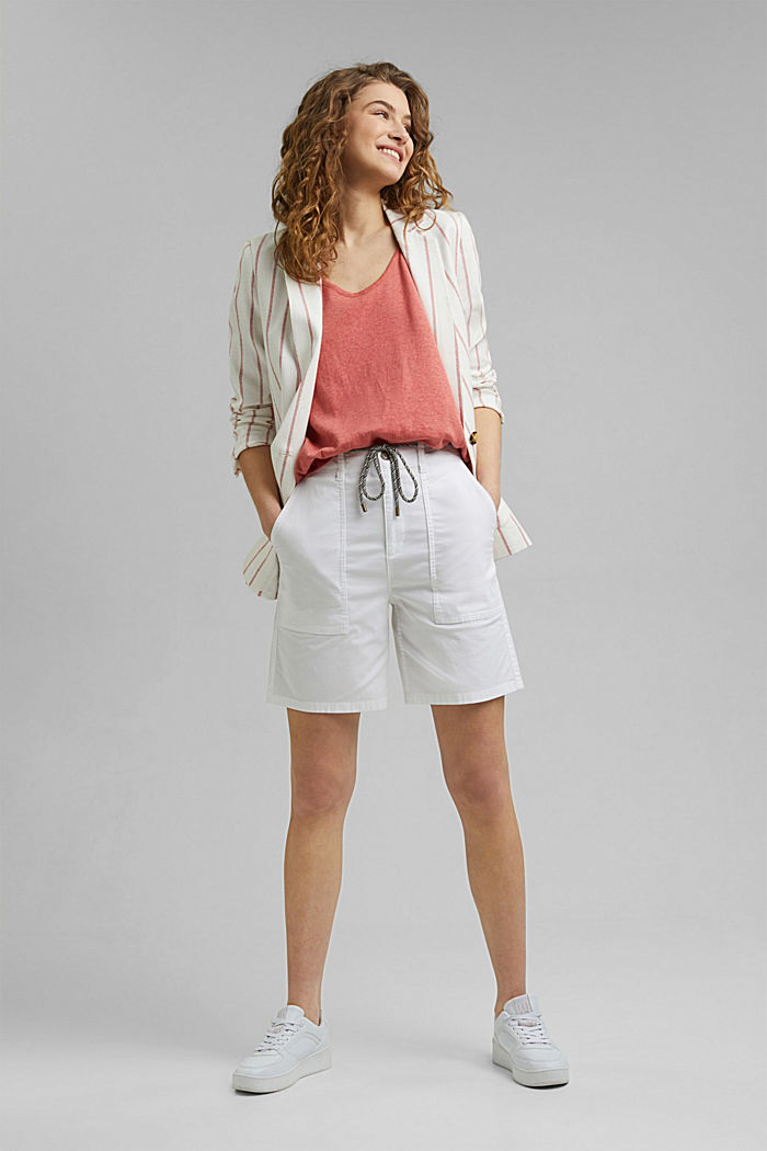 Linen blend: sleeveless top, CORAL, detail image number 1