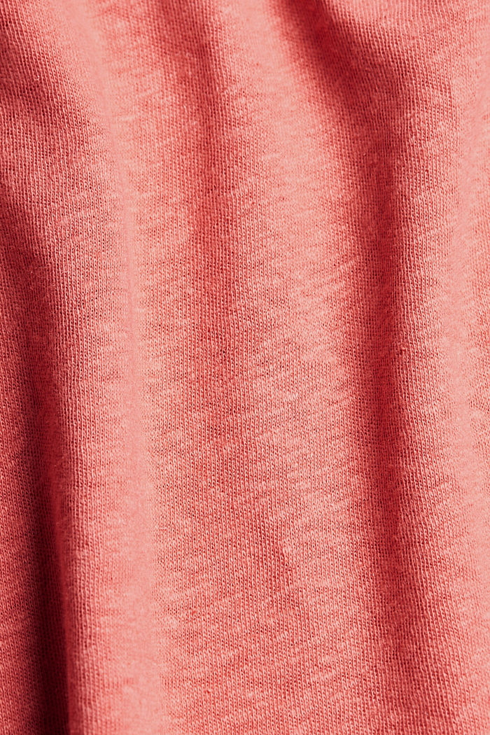Linen blend: sleeveless top, CORAL, detail image number 4