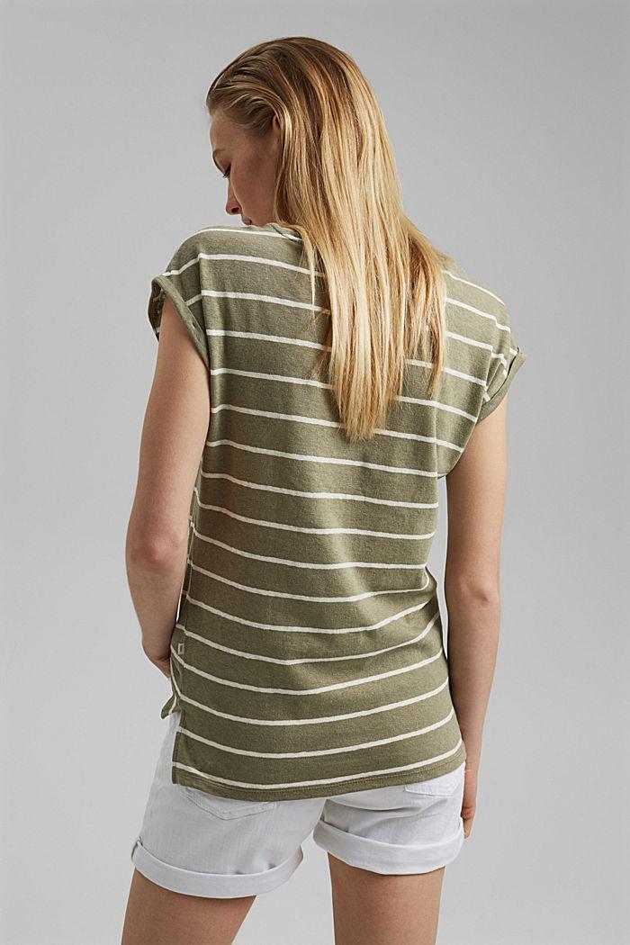 À teneur en lin: le t-shirt à rayures, LIGHT KHAKI, detail image number 3
