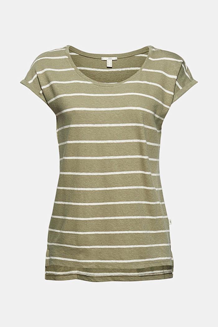Met linnen: T-shirt met strepen