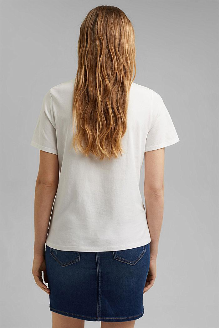 Painettu t-paita, 100 % luomupuuvillaa, OFF WHITE, detail image number 3