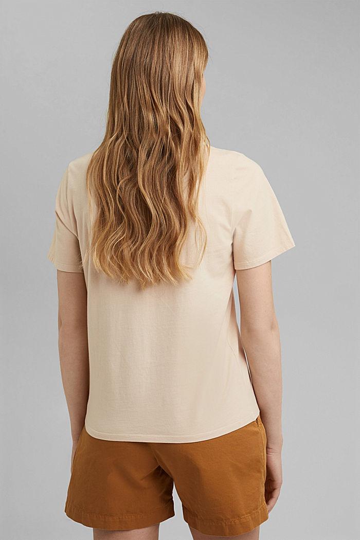Printed T-shirt, 100% organic cotton, BEIGE, detail image number 3