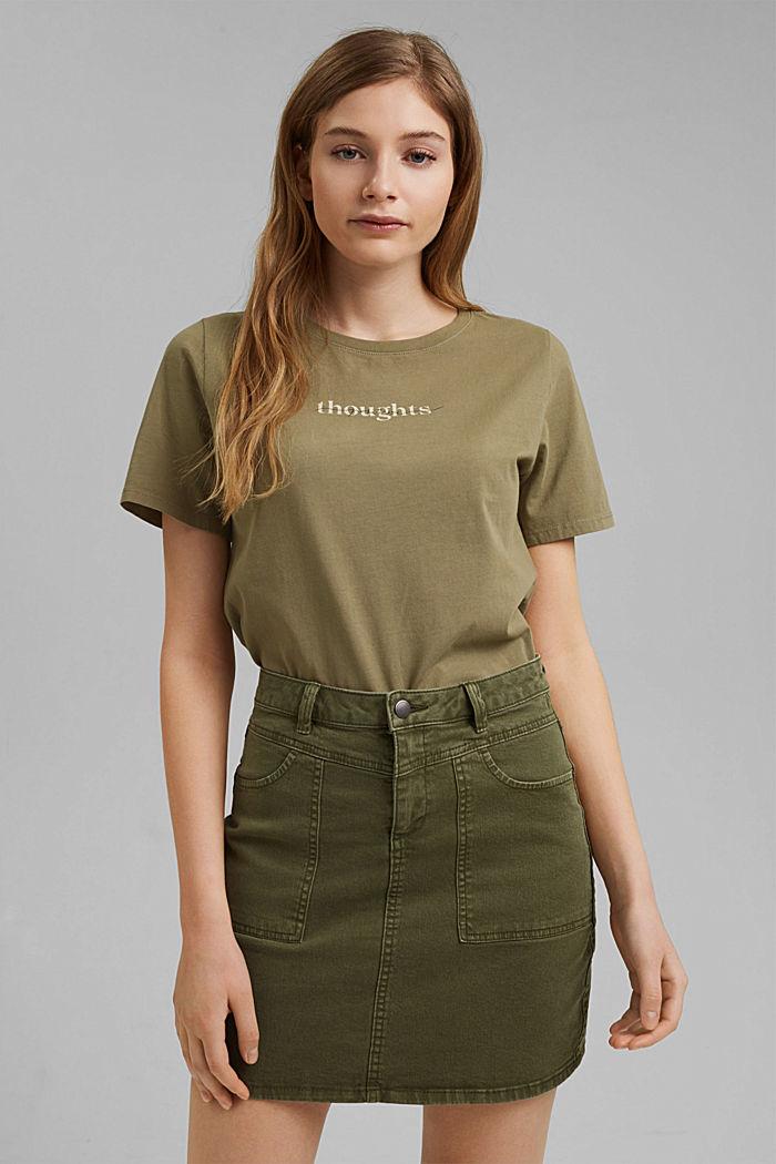 Printed T-shirt, 100% organic cotton, LIGHT KHAKI, detail image number 0