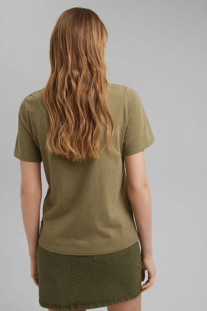 Printed T-shirt, 100% organic cotton, LIGHT KHAKI, detail image number 3