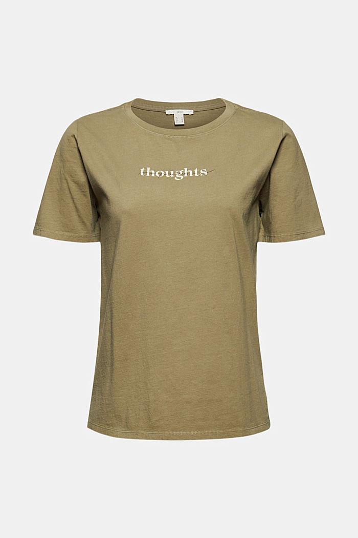 Printed T-shirt, 100% organic cotton, LIGHT KHAKI, detail image number 6