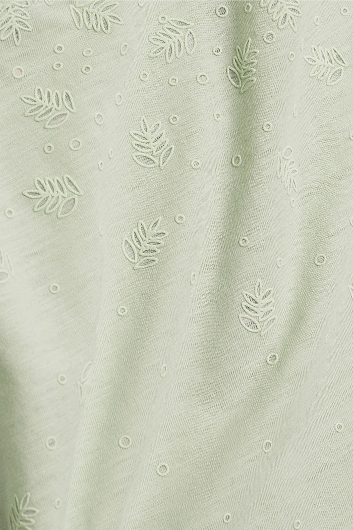 Recycled: Print t-shirt with organic cotton, PASTEL GREEN, detail image number 4