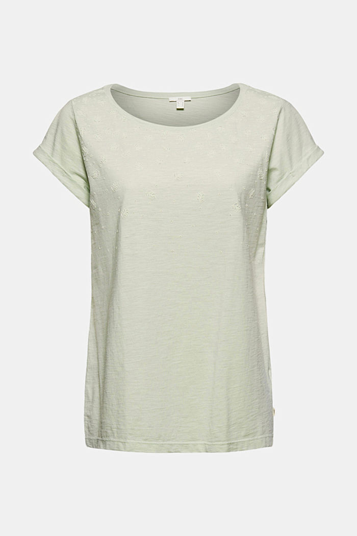 Recycled: Print t-shirt with organic cotton, PASTEL GREEN, detail image number 5