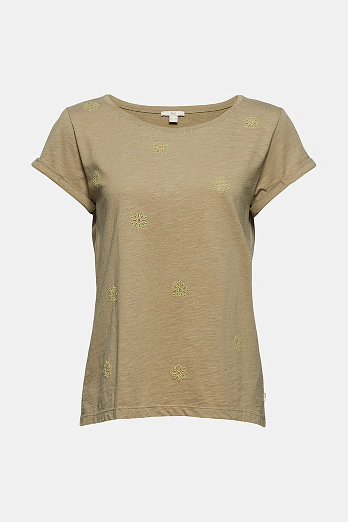Recycled: Print t-shirt with organic cotton, LIGHT KHAKI, detail image number 5
