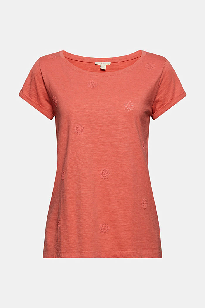 Recycled: Print t-shirt with organic cotton, CORAL, detail image number 6