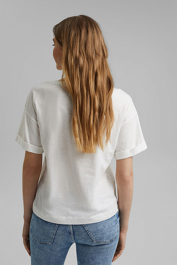 Statement T-shirt made of 100% organic cotton, OFF WHITE, detail image number 3