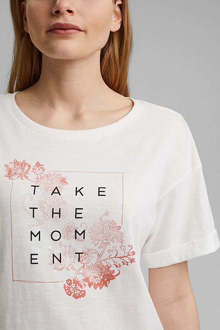 Statement T-shirt made of 100% organic cotton, OFF WHITE, detail image number 2