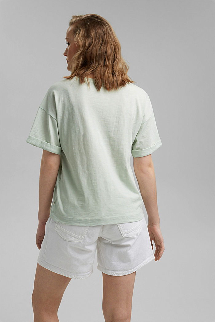 Statement T-shirt made of 100% organic cotton, PASTEL GREEN, detail image number 3