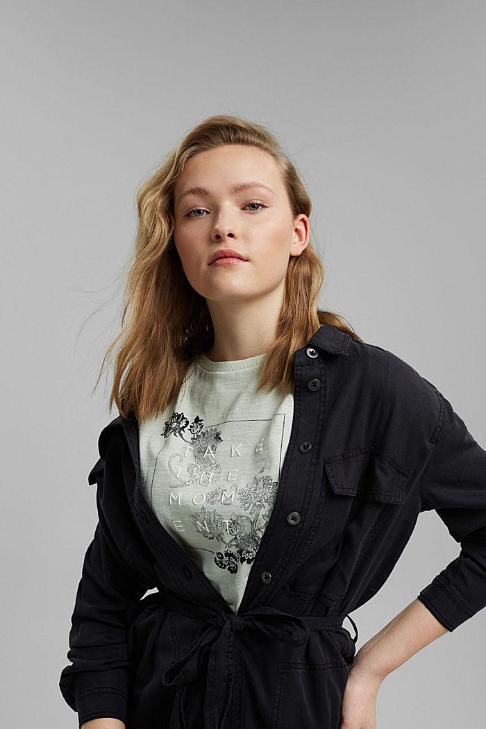 Statement T-shirt made of 100% organic cotton, PASTEL GREEN, detail image number 5
