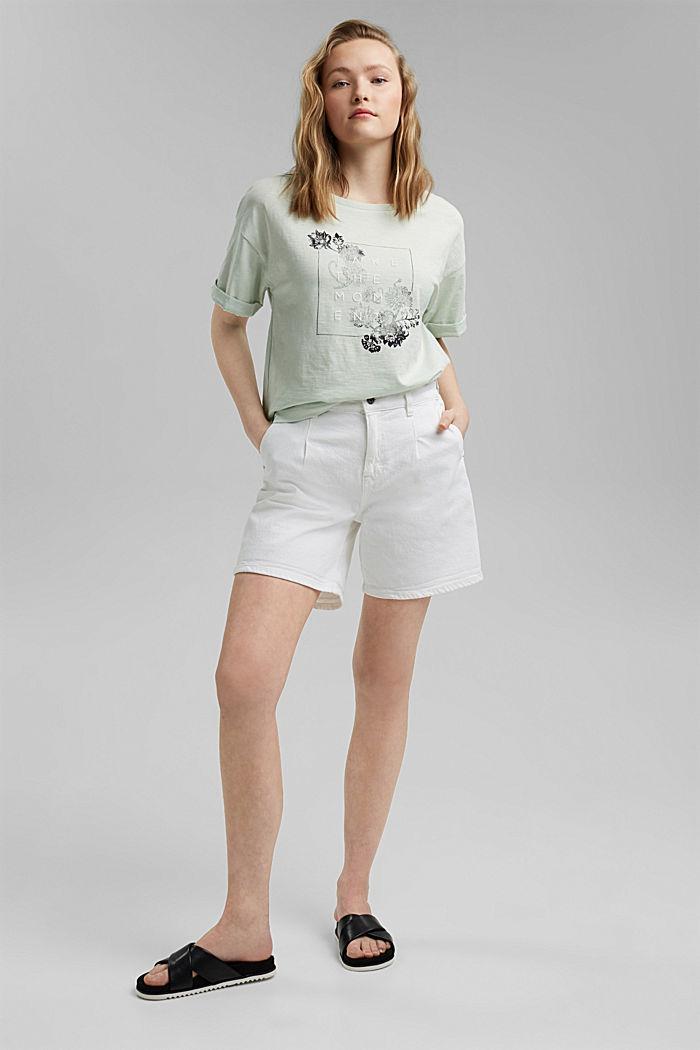 Statement T-shirt made of 100% organic cotton, PASTEL GREEN, detail image number 1