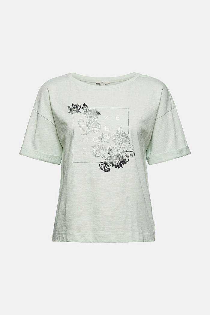 Statement T-shirt made of 100% organic cotton, PASTEL GREEN, detail image number 6