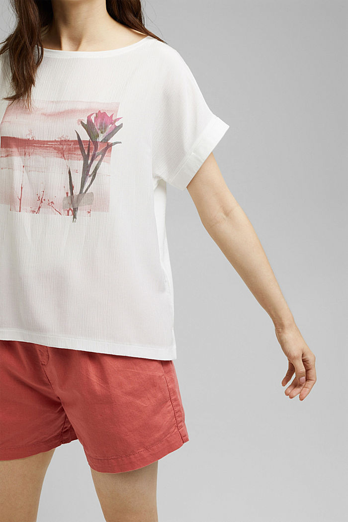 Printed material mix T-shirt, OFF WHITE, detail image number 5