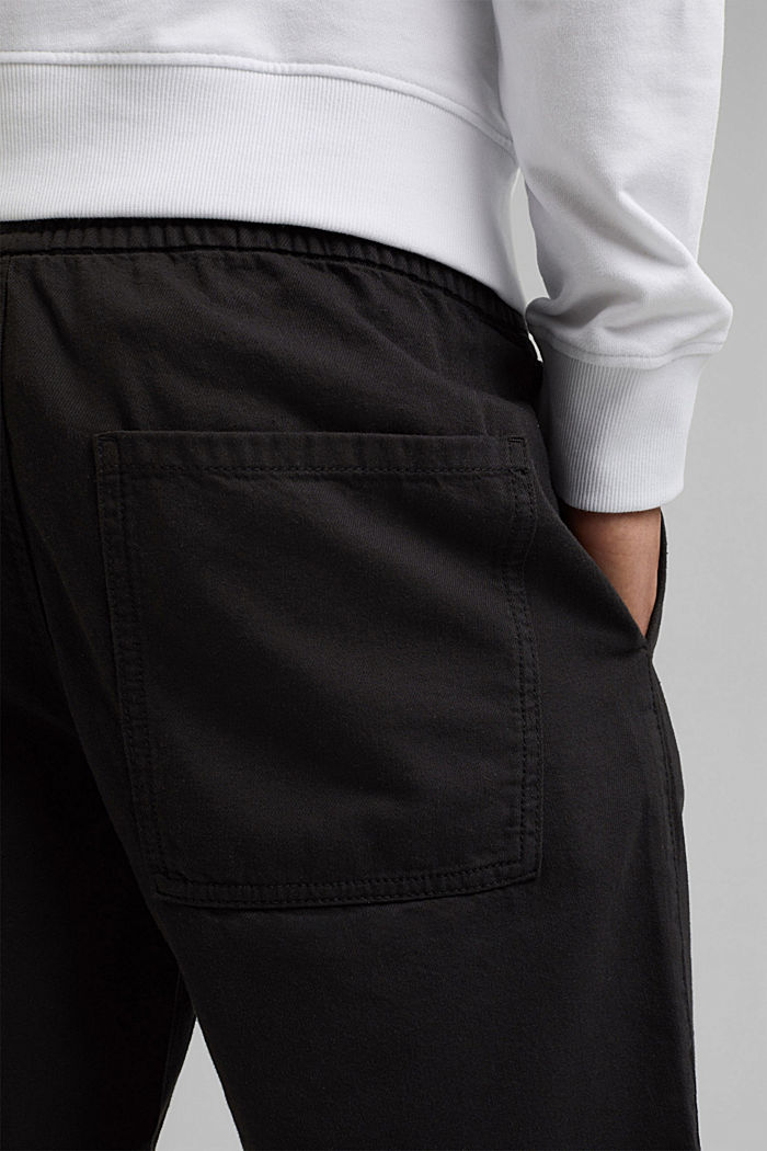 Cotton shorts with an elasticated waistband, ANTHRACITE, detail image number 5