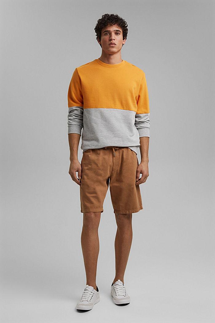 Short en coton à taille élastique