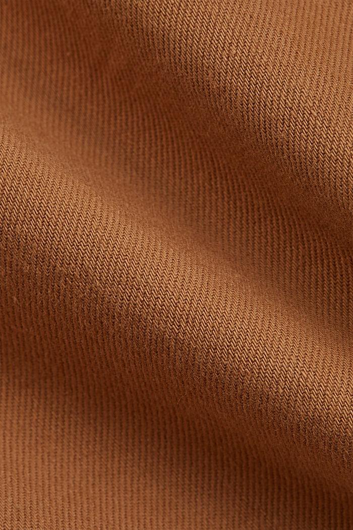 Puuvillashortsit kuminauhavyötäröllä, CAMEL, detail image number 4