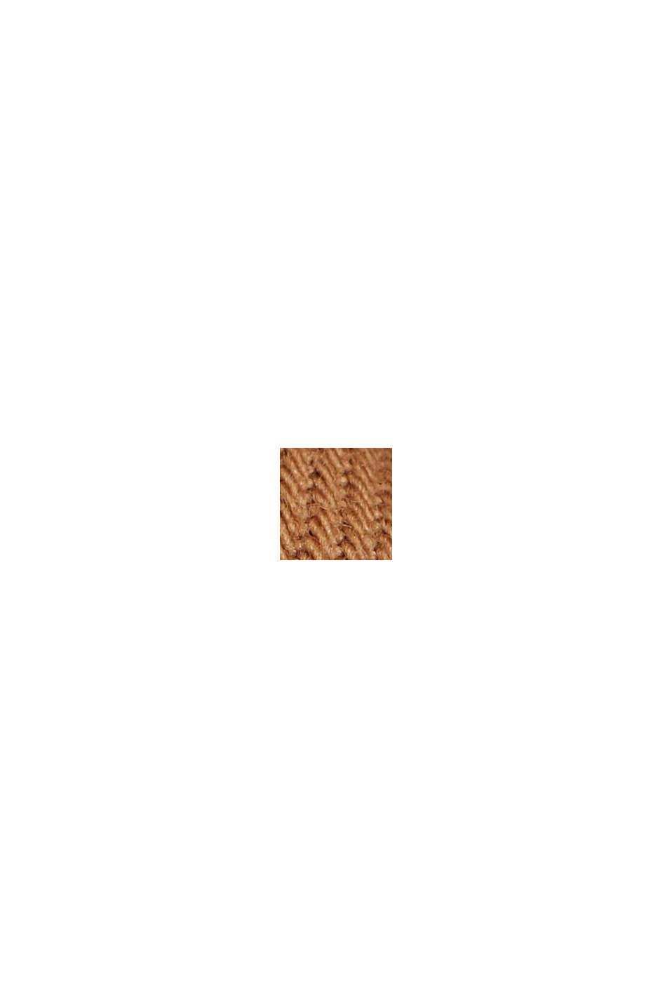 Katoenen short met elastische band, CAMEL, swatch