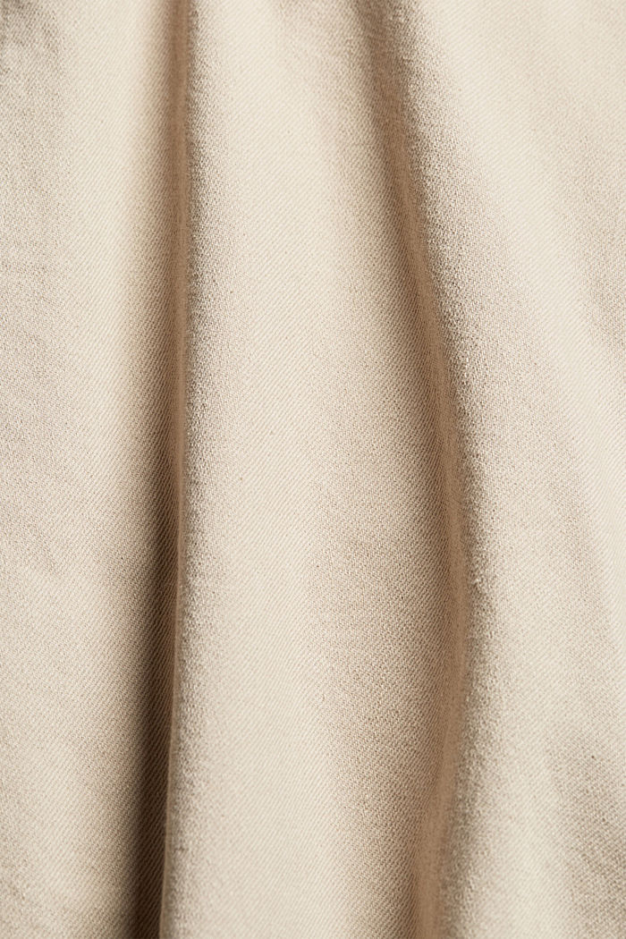 Cotton shorts with an elasticated waistband, LIGHT BEIGE, detail image number 4