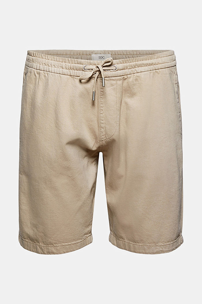 Cotton shorts with an elasticated waistband