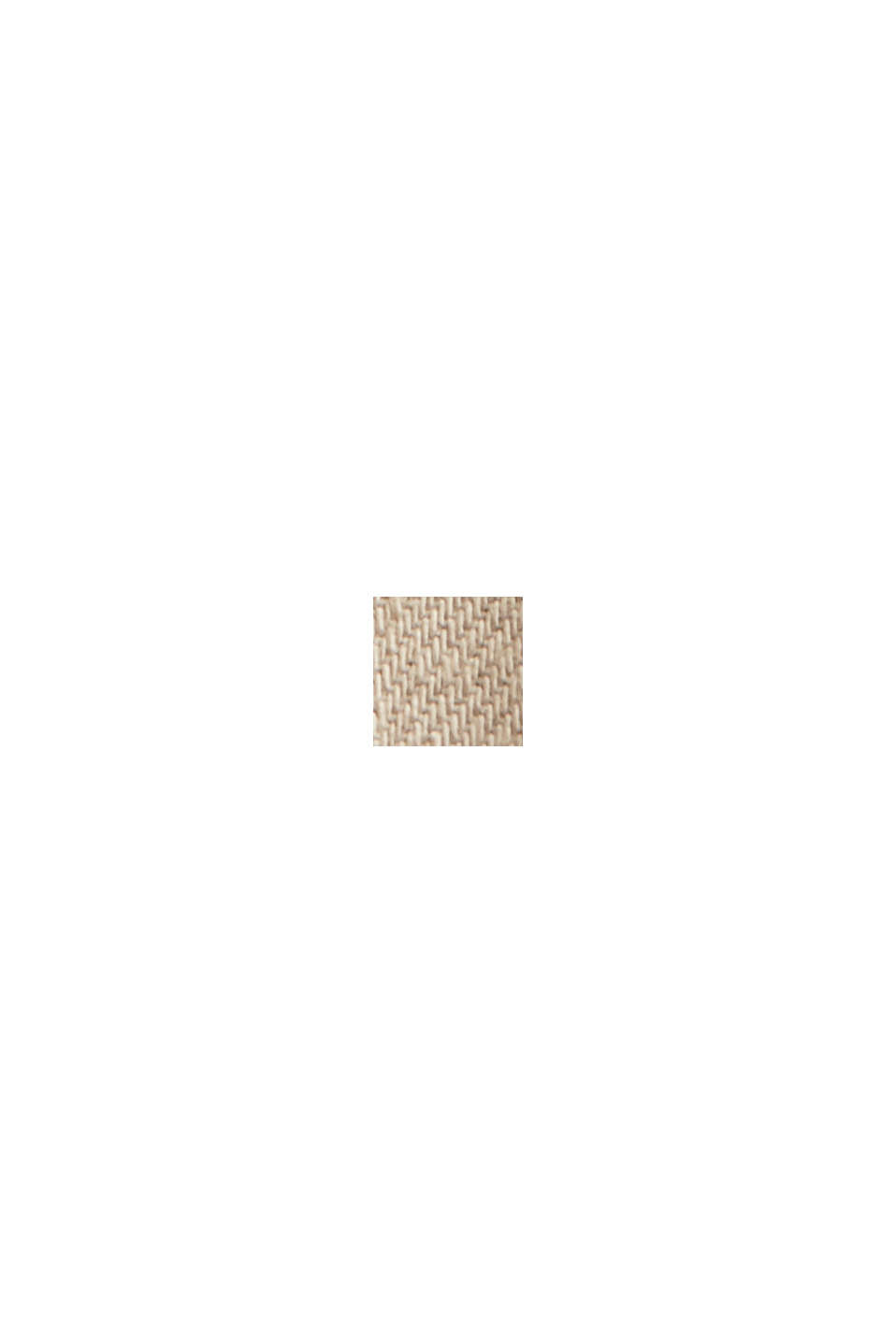 Katoenen short met elastische band, LIGHT BEIGE, swatch