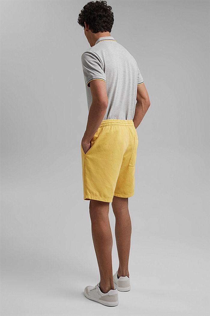 Short en coton à taille élastique, LIGHT YELLOW, detail image number 3