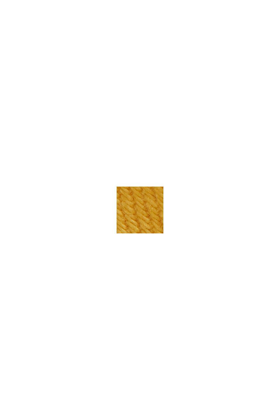 Katoenen short met elastische band, LIGHT YELLOW, swatch