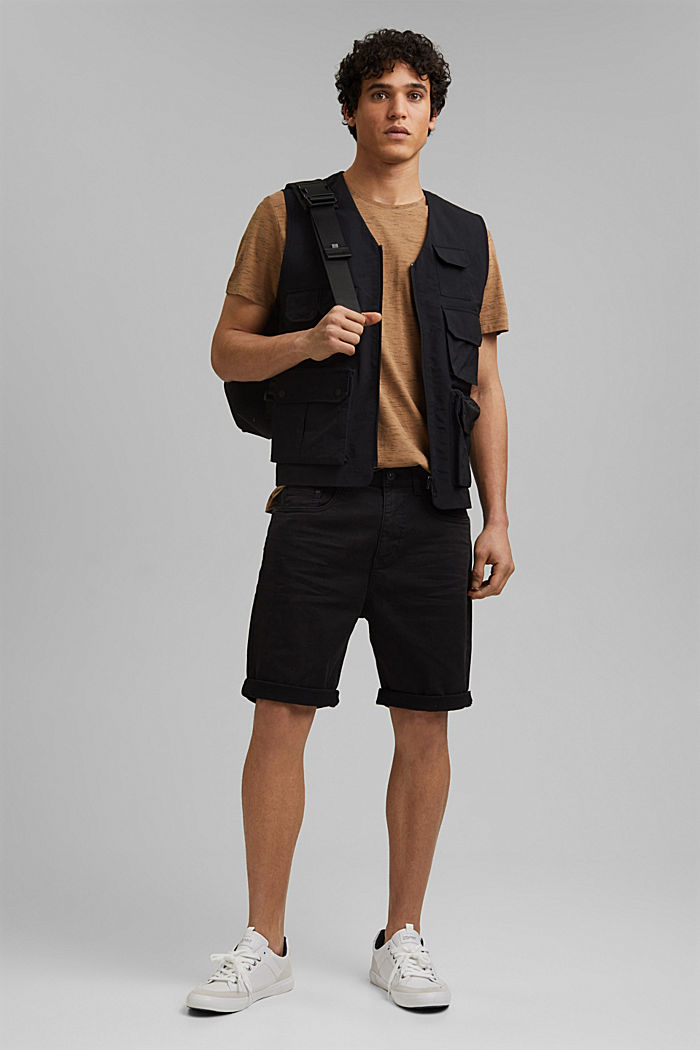 Twill shorts made of stretch cotton