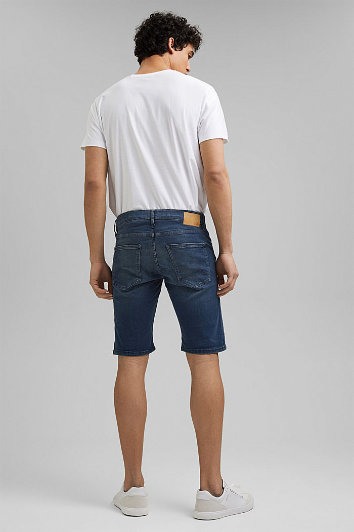 Jeans-Shorts mit Organic Cotton, BLUE DARK WASHED, detail image number 3