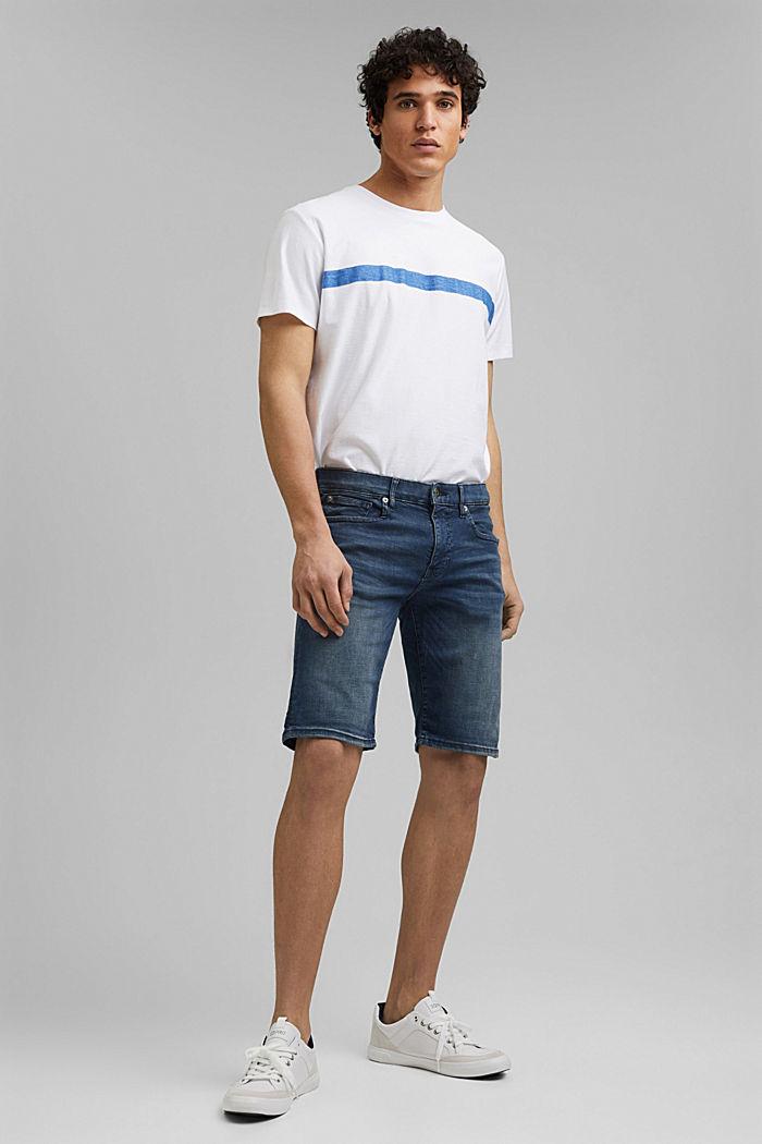 Jeans-Shorts mit Organic Cotton, BLUE DARK WASHED, detail image number 4