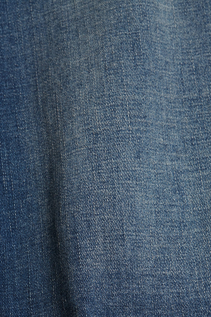 Vaqueros cortos con algodón ecológico, BLUE DARK WASHED, detail image number 5