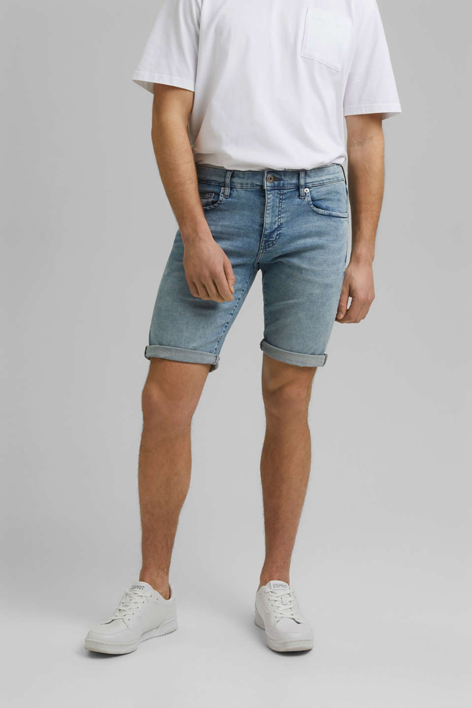 edc - Denim shorts with organic cotton
