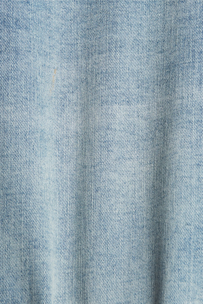 Denim shorts with organic cotton, BLUE LIGHT WASHED, detail image number 5