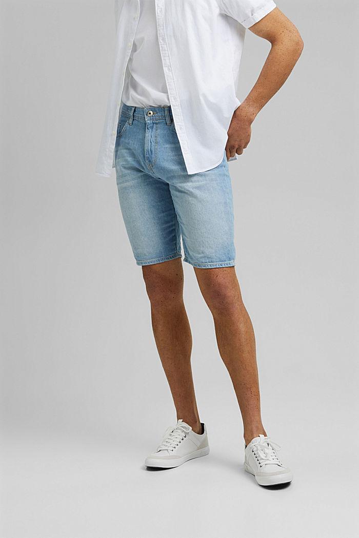 Recycled: Denim shorts made of cotton/hemp