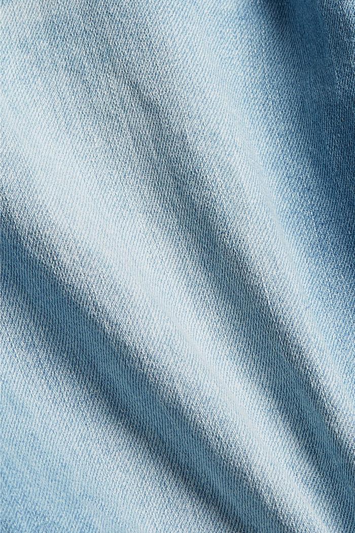 Gerecycled: denim short van katoen/hennep, BLUE BLEACHED, detail image number 5