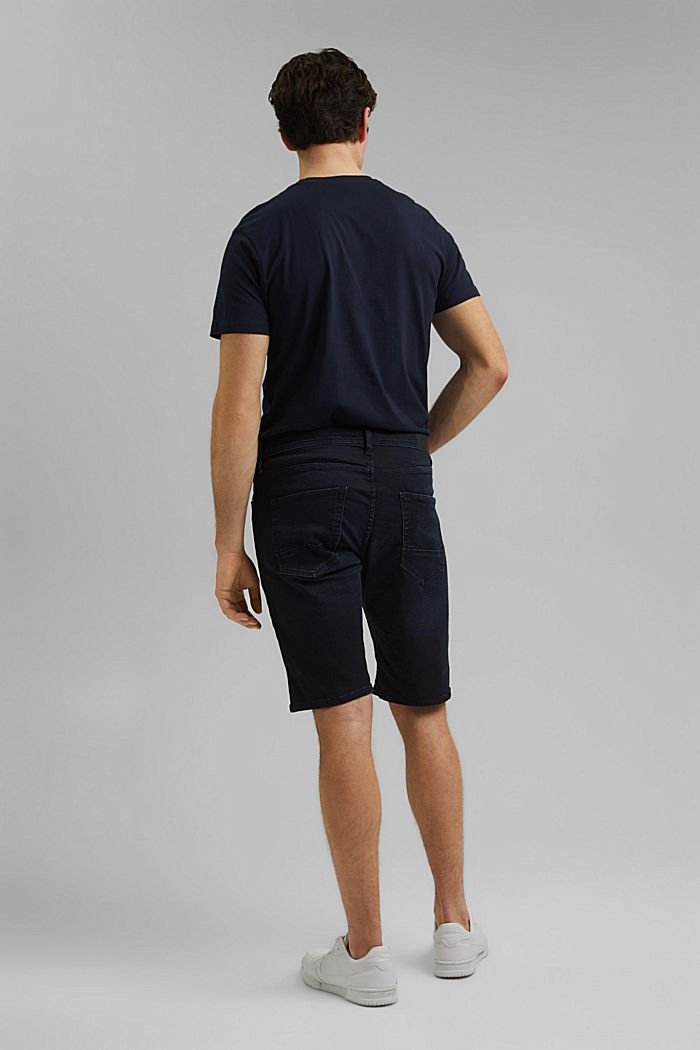 Denim shorts made of organic cotton, NEW BLUE DARK WASHED, detail image number 3