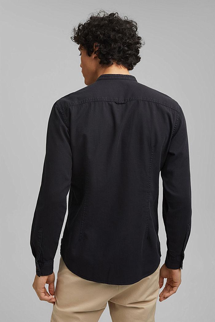 Denim-look shirt, organic cotton, ANTHRACITE, detail image number 3
