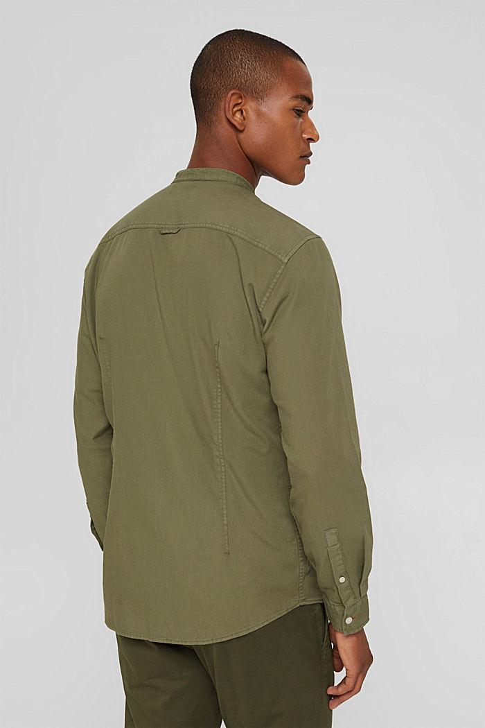 Hemd in Jeans-Optik, Organic Cotton, KHAKI GREEN, detail image number 3