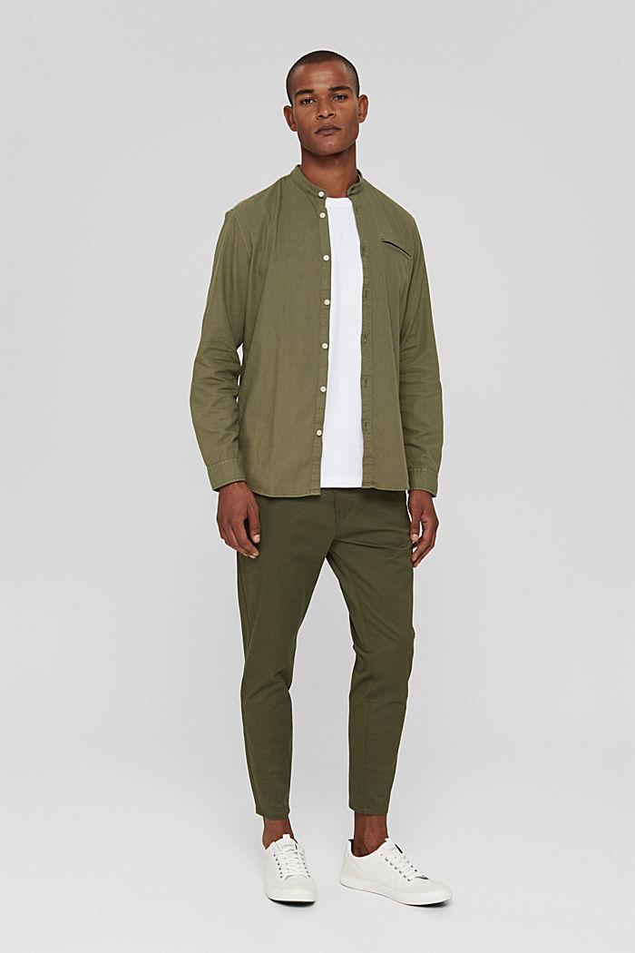Hemd in Jeans-Optik, Organic Cotton, KHAKI GREEN, detail image number 1