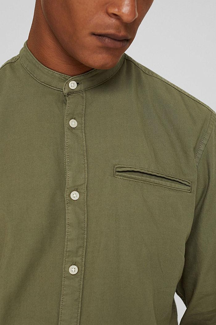 Hemd in Jeans-Optik, Organic Cotton, KHAKI GREEN, detail image number 2