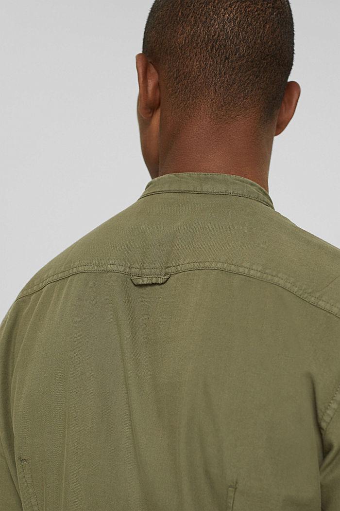 Hemd in Jeans-Optik, Organic Cotton, KHAKI GREEN, detail image number 5