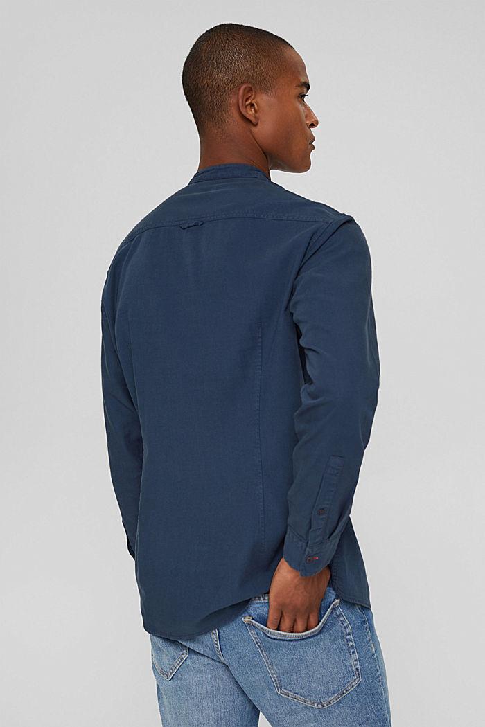 Denim-look shirt, organic cotton, NAVY, detail image number 3