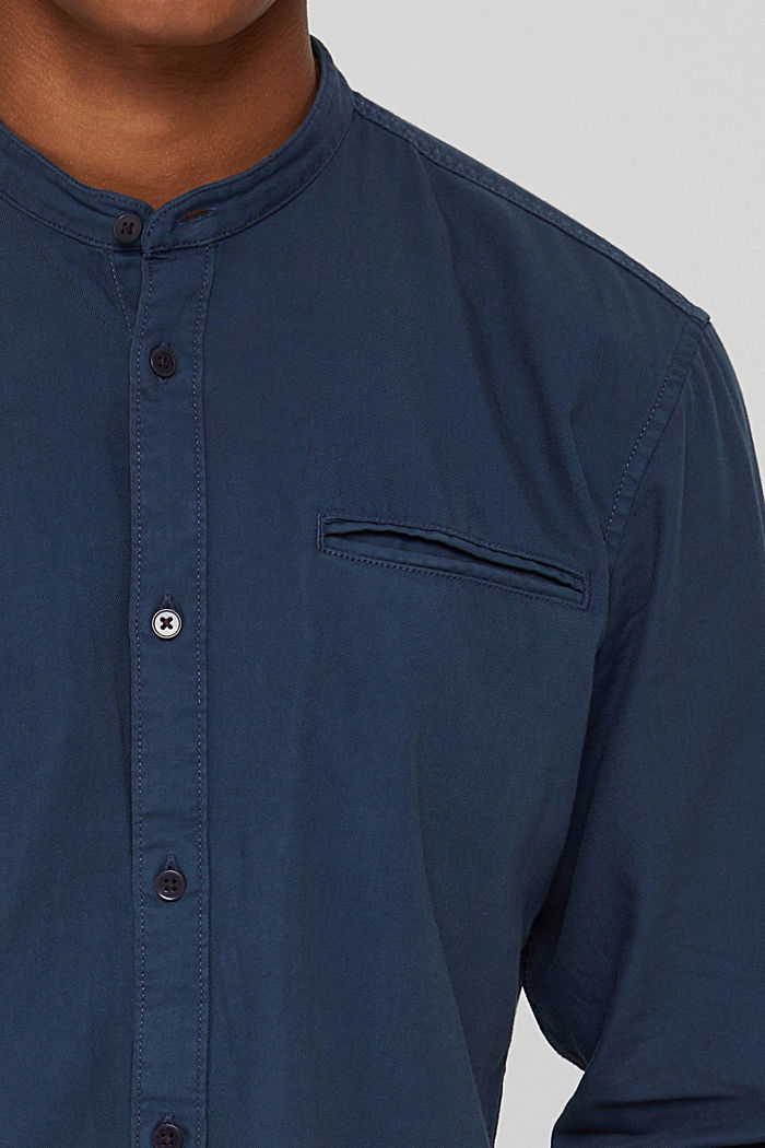Denim-look shirt, organic cotton, NAVY, detail image number 2