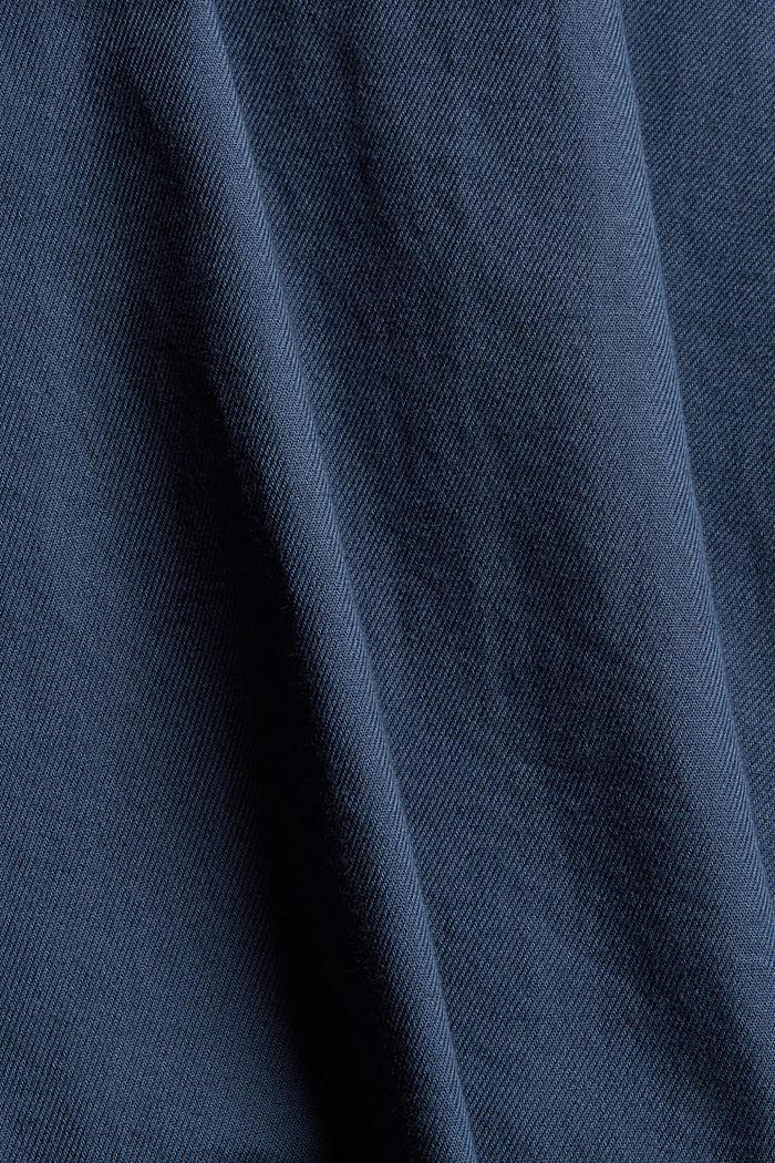 Denim-look shirt, organic cotton, NAVY, detail image number 4